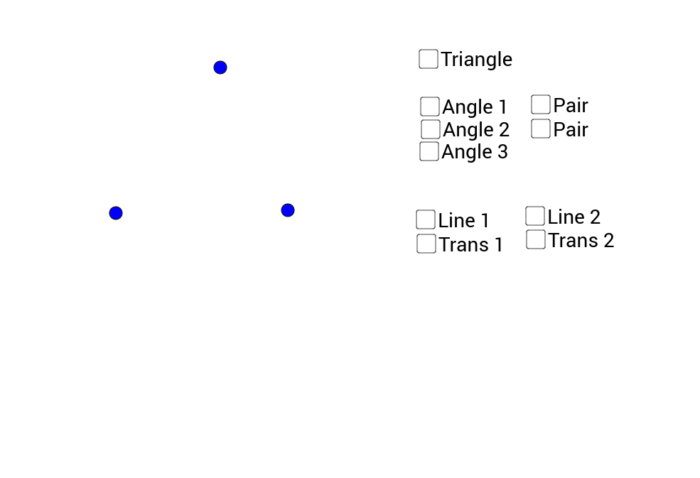 Triangle Sum Proof (using transversals)