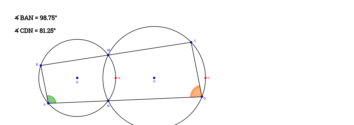 Quadrilateral on 2 Circles (Question)