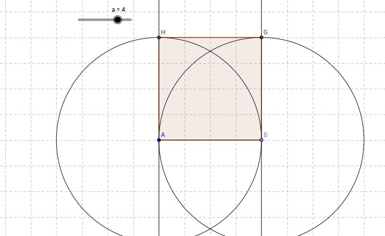 Construcción con regla y compás de un cuadrado