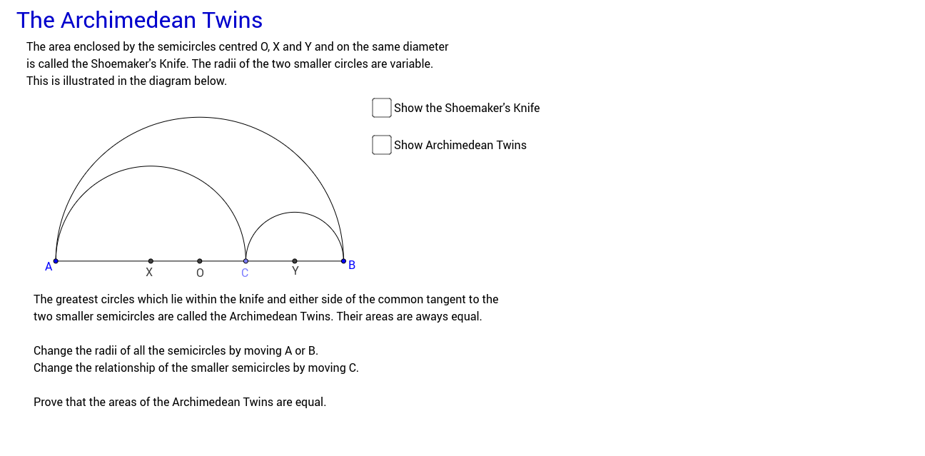 The archimedean twins geogebra pooptronica Image collections