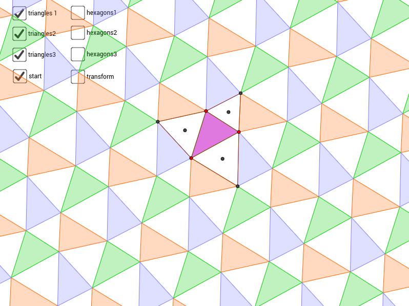 symmetries of Napoleon's tessellation