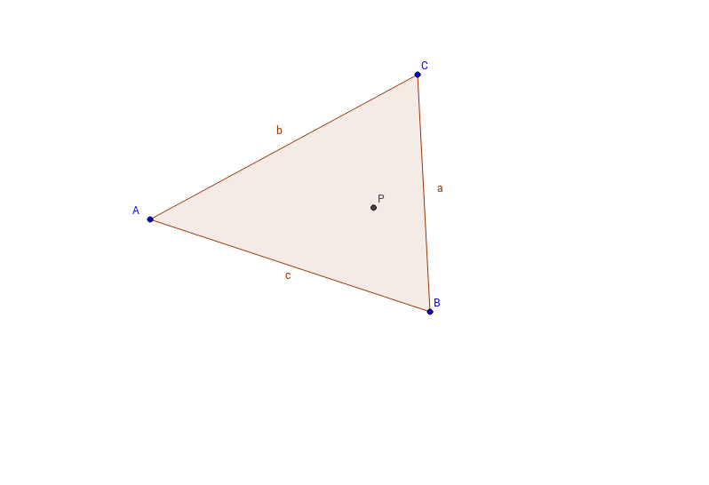 Merkwürdiger Punkt im Dreieck