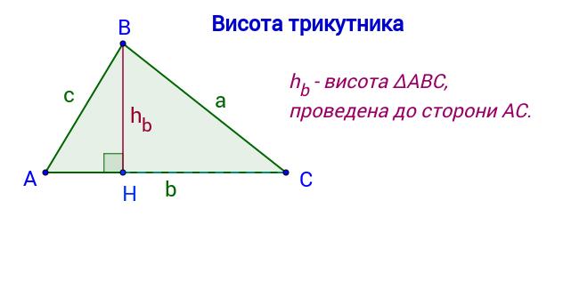 Висота трикутника