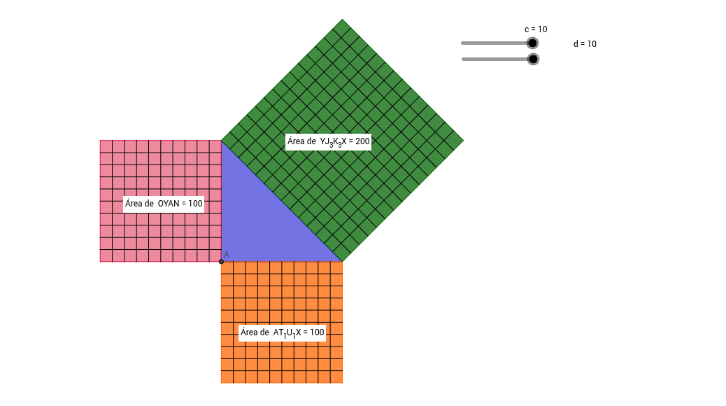 Teorema de pitagoras (animación #2)