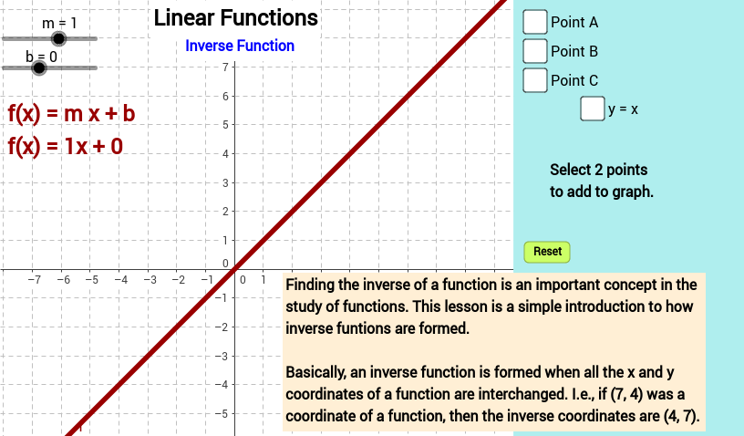 Linear Functions -- Inverse Function