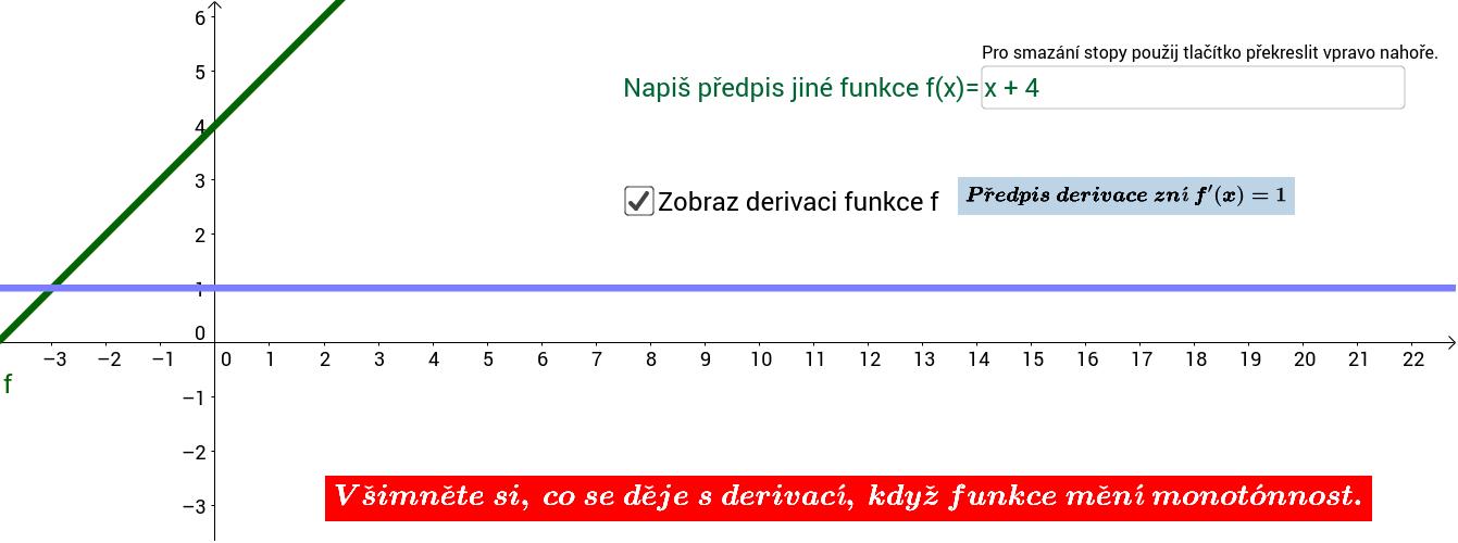 PRO ZÁPIS FUNKCÍ DOPORUČUJI VYUŽÍT NÁPOVĚDY https://wiki.geogebra.org/en/Predefined_Functions_and_Operators