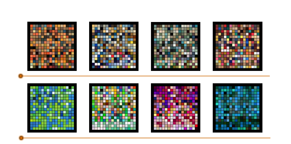 Interactive Color Tile Gallery