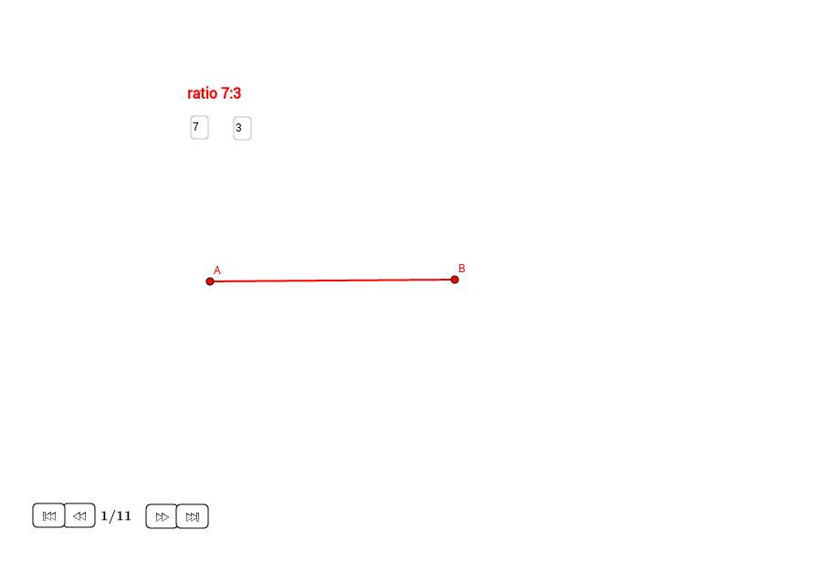 Dividir un segmento según una ratio dada