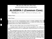 NYS Common Core Regents