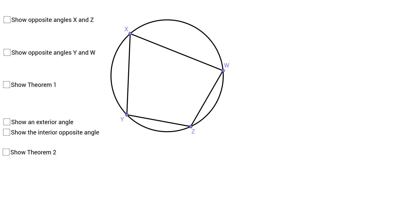 Angles of Cyclic Quadrilaterals