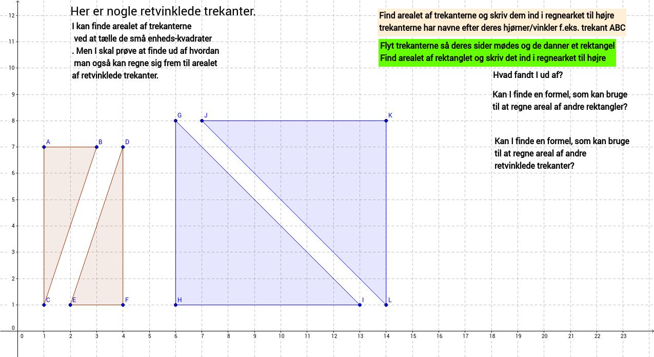 areal af trekant 1