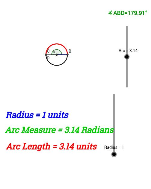 Radian Measure GeoGebra – Radian Measure Worksheet