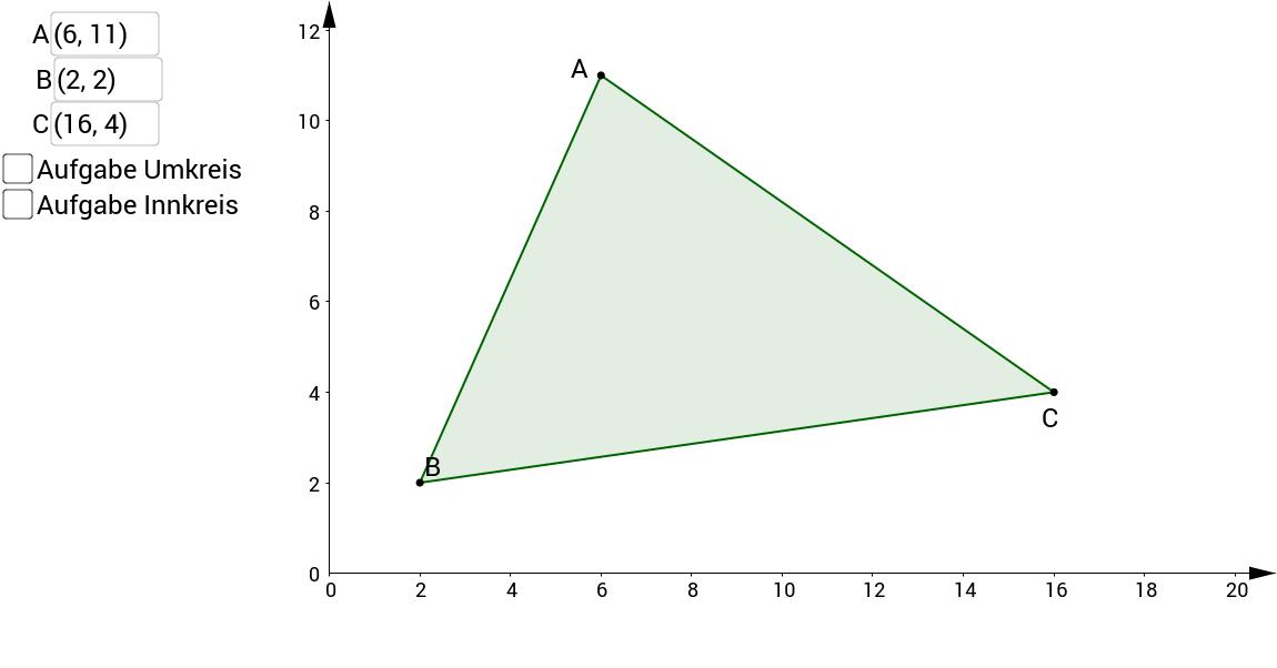 In- und Umkreis eines Dreiecks