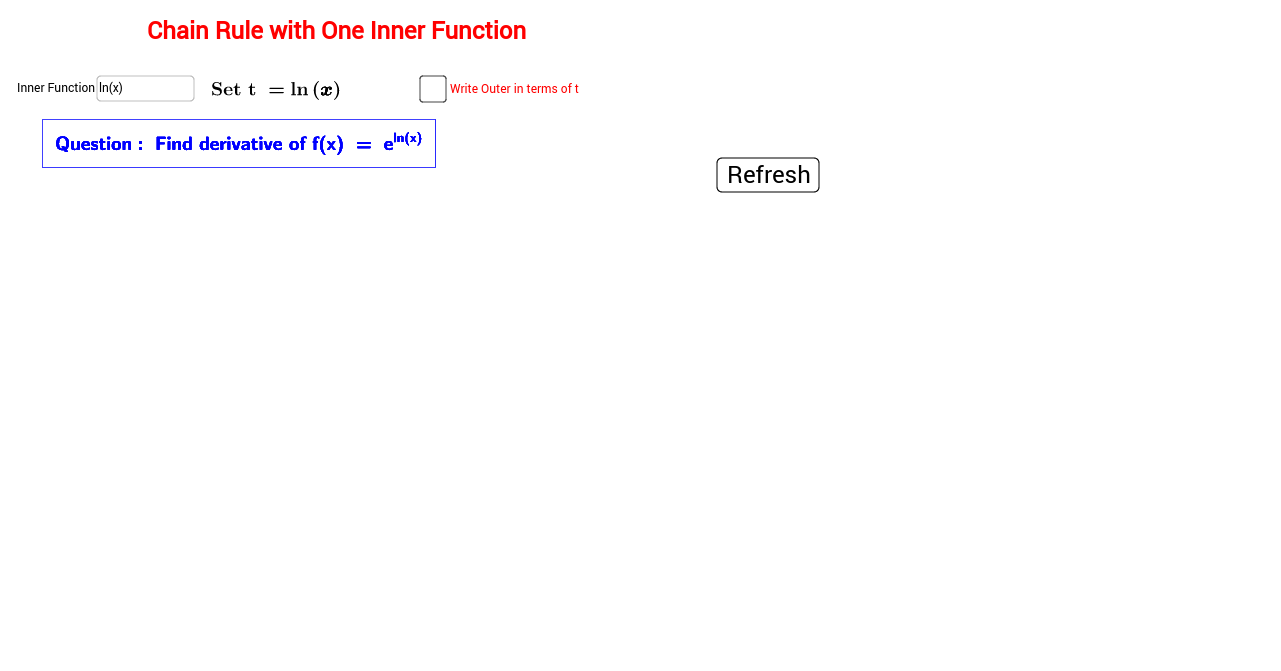 worksheet Derivative Practice Worksheet chain rule with one inner function geogebra first find derivative yourself and then verify using this applet in case you have a problem understanding how to apply carefully observe the