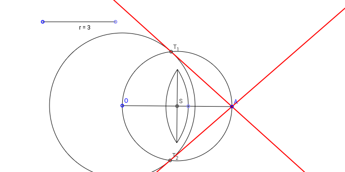 Tangents through an external point