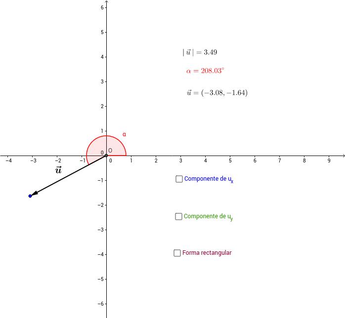 Descomposición de un vector
