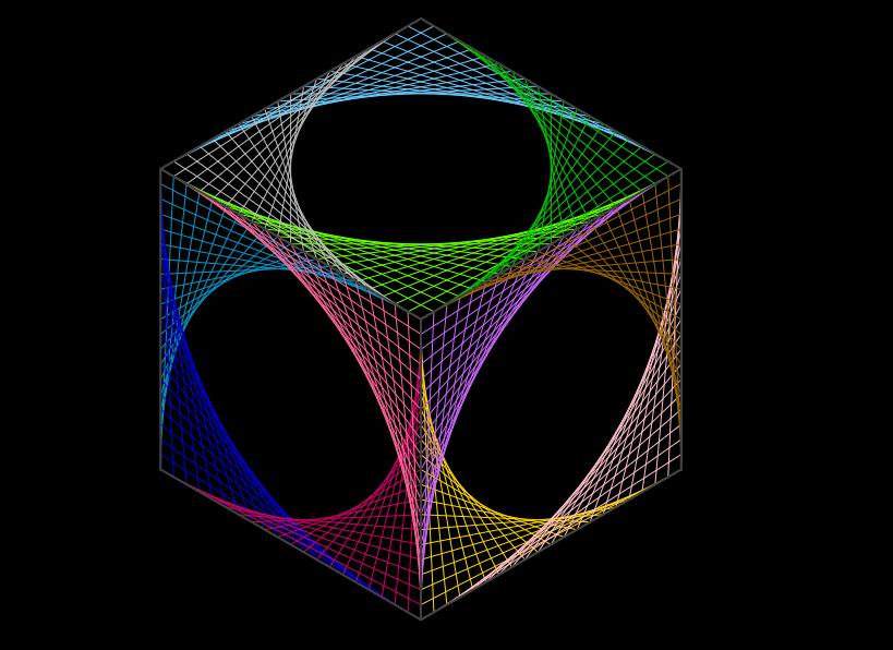 String art - Cubo in 2d