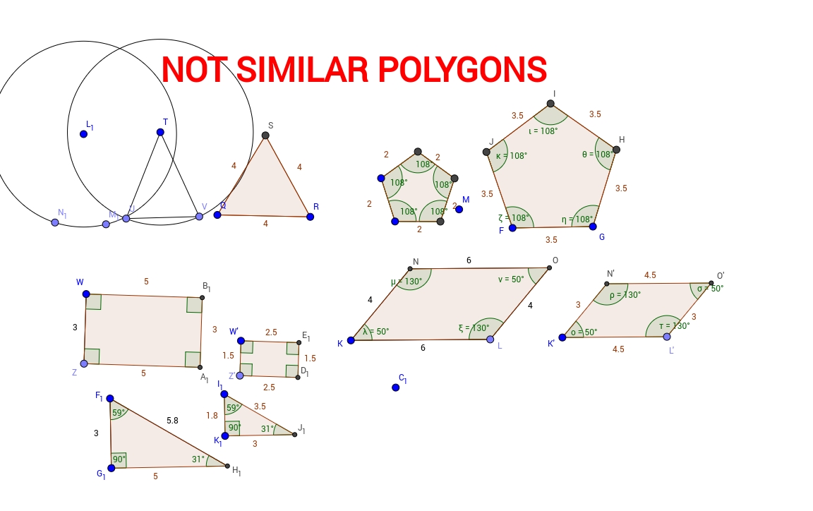 worksheet Identify Polygons Worksheet worksheet similar polygons thedanks for everyone area of worksheets free full online version at deering math online