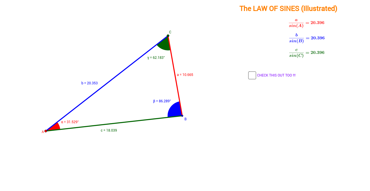 Law of Sines (Illustrated)
