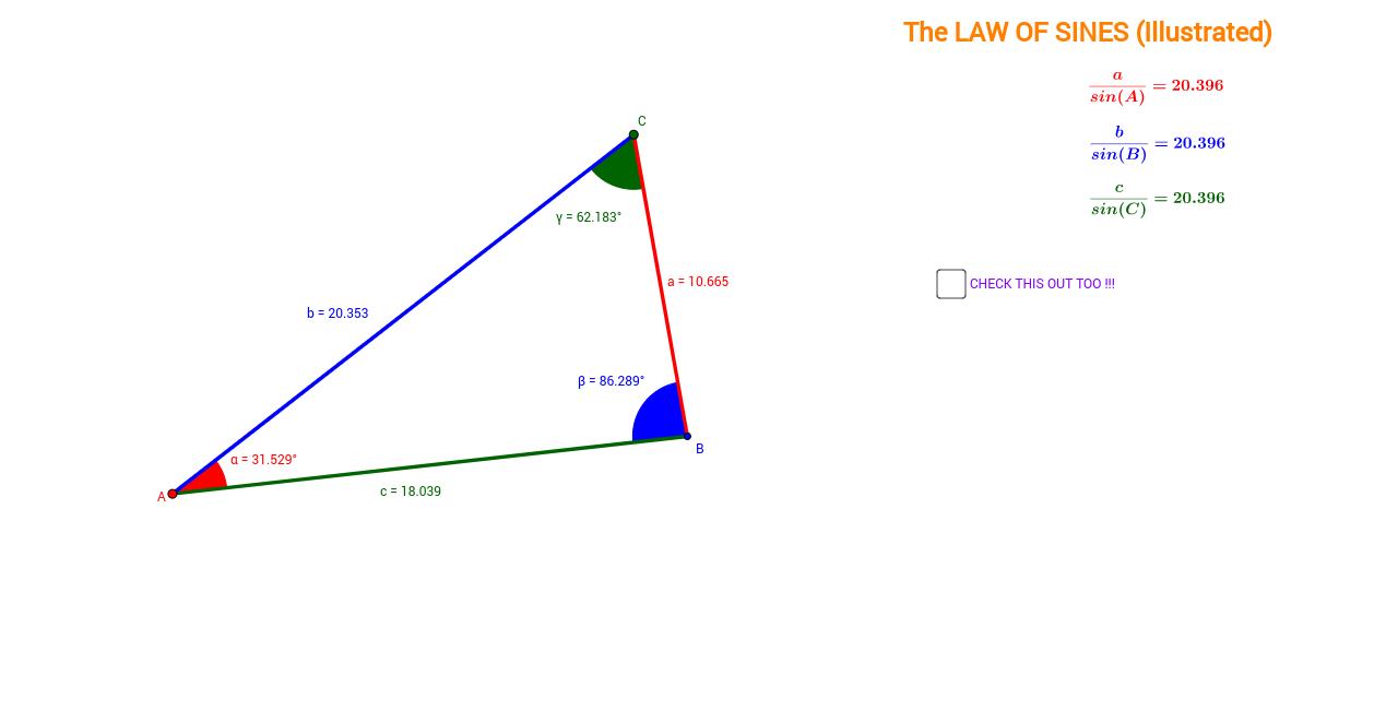 Law of Sines (Illustrated) - GeoGebra
