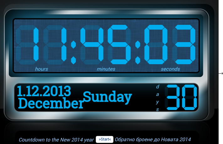 Countdown to the New 2014 year.