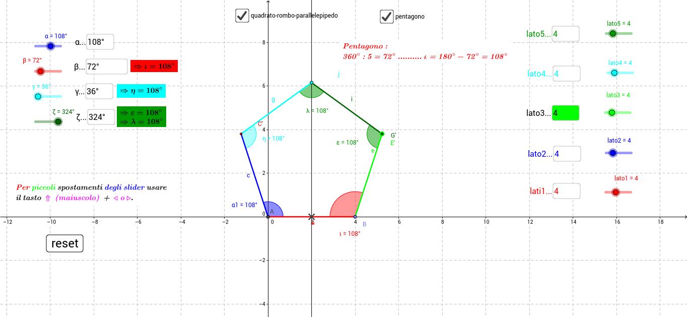 costruzione poligoni - dal triangolo al pentagono