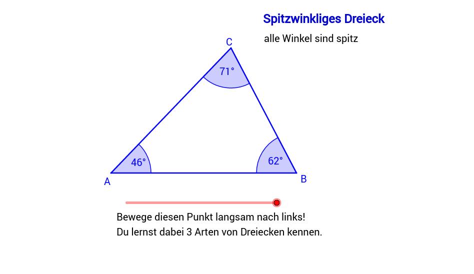 Dreiecke - Eigenschaften – GeoGebra