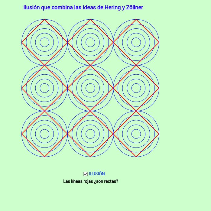 Ilusión que combina las ideas de Hering y Zöllner