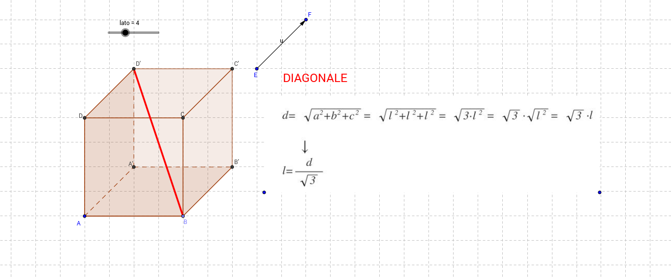Diagonale cubo