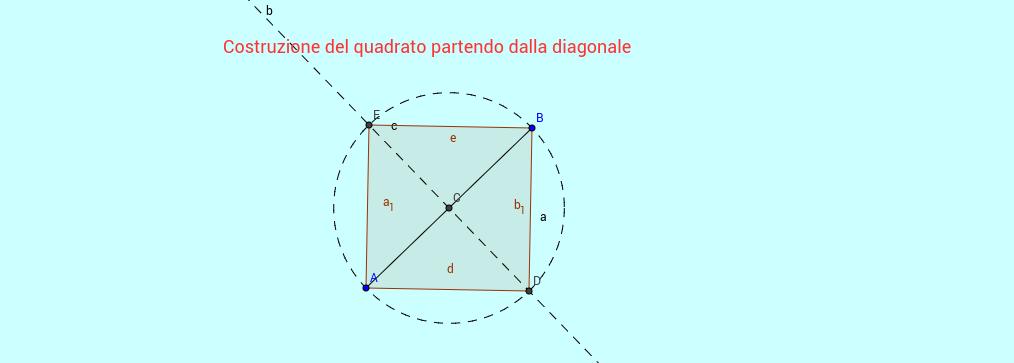 Costruzione di un quadrato partendo dalla diagonale