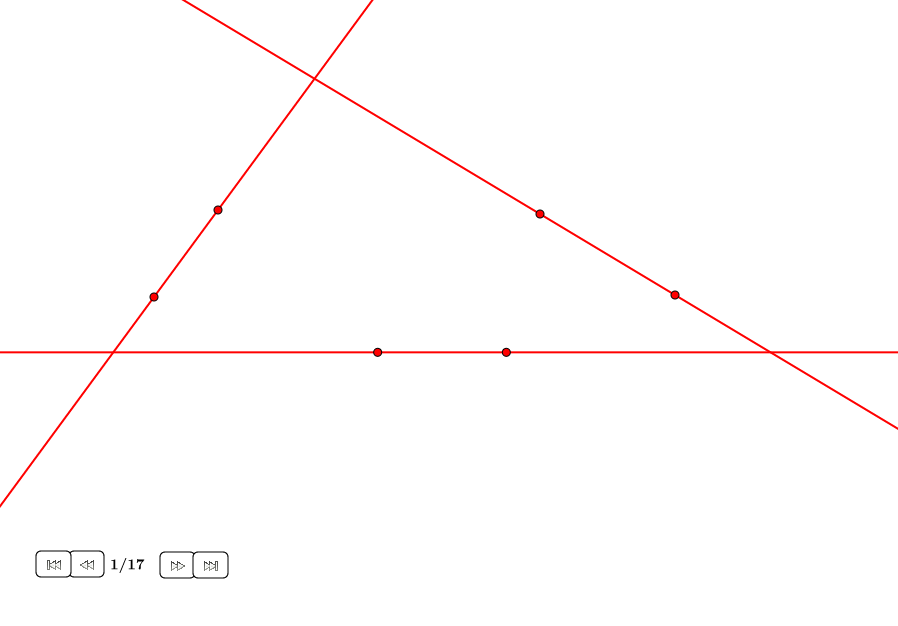 Círculo tangente a tres rectas