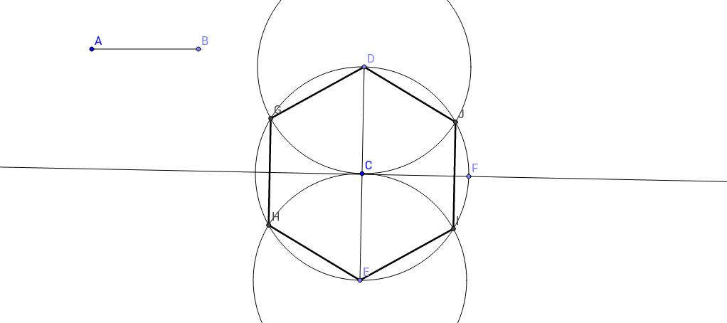 Construcció d'un hexàgon
