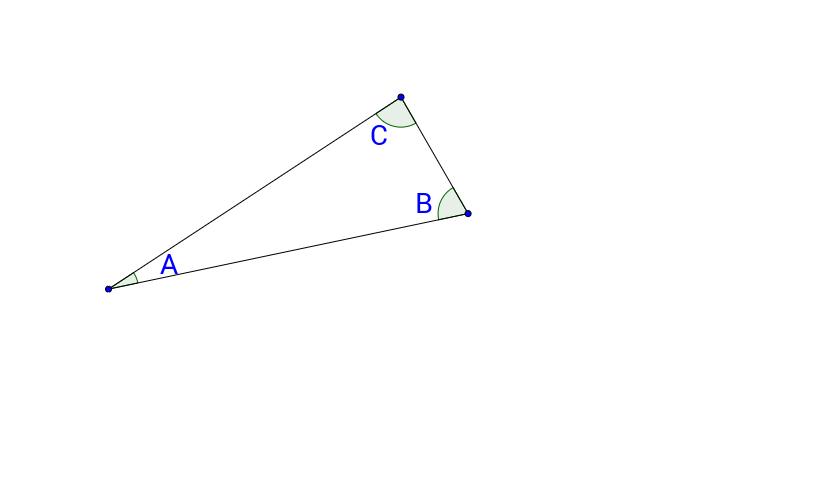 Bevis: Trekantens vinkelsum (Klik >> og forklar)
