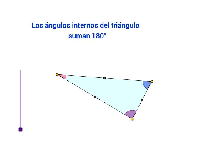 Suma ángulos internos de un triángulo