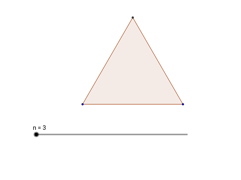 Regular Polygons with many sides