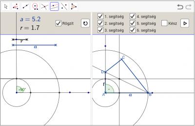 Derékszögű deltoid szerkesztése