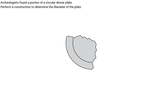Finding the diameter of a broken dinner plate
