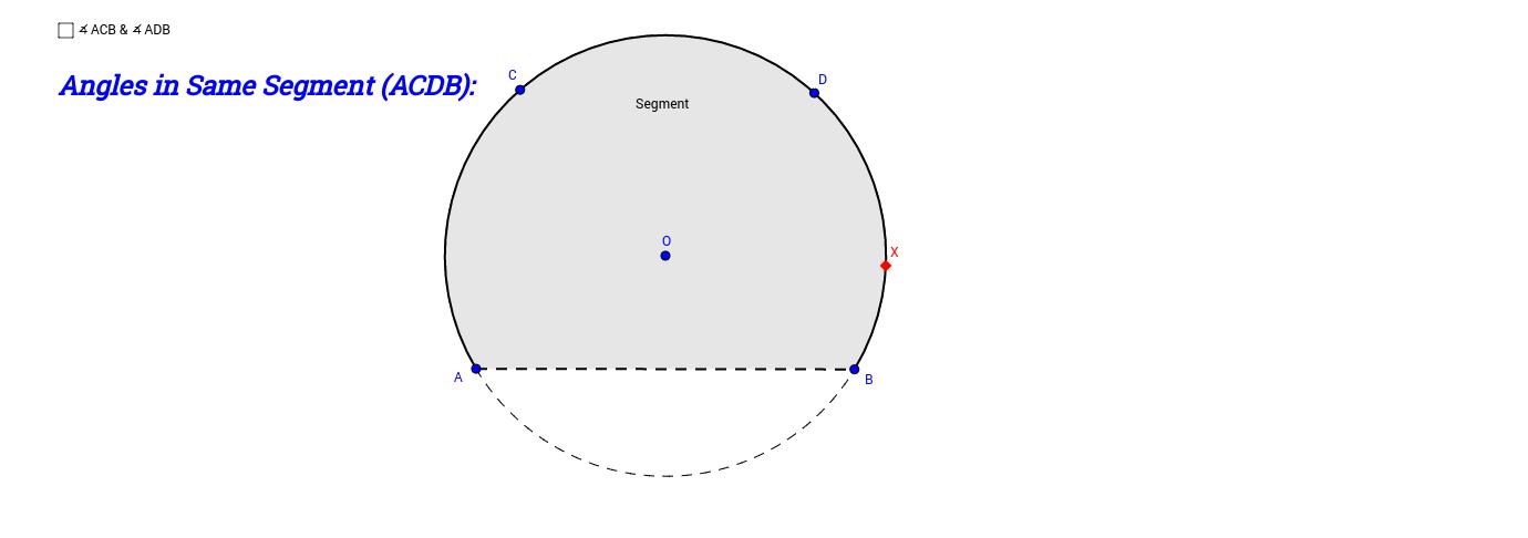 Angles in Same Segment