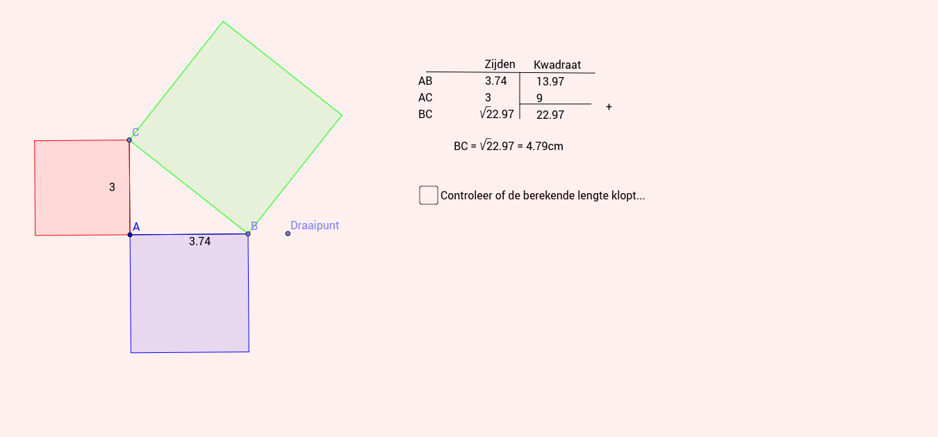 Werkblad Pythagoras