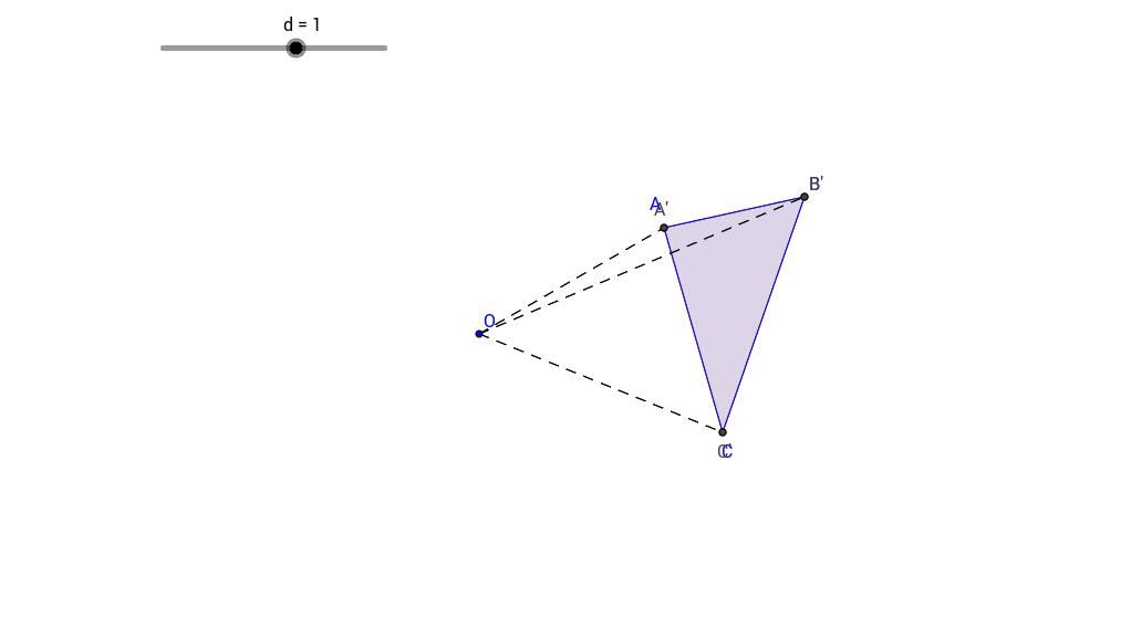 Negative Dilation Triangle