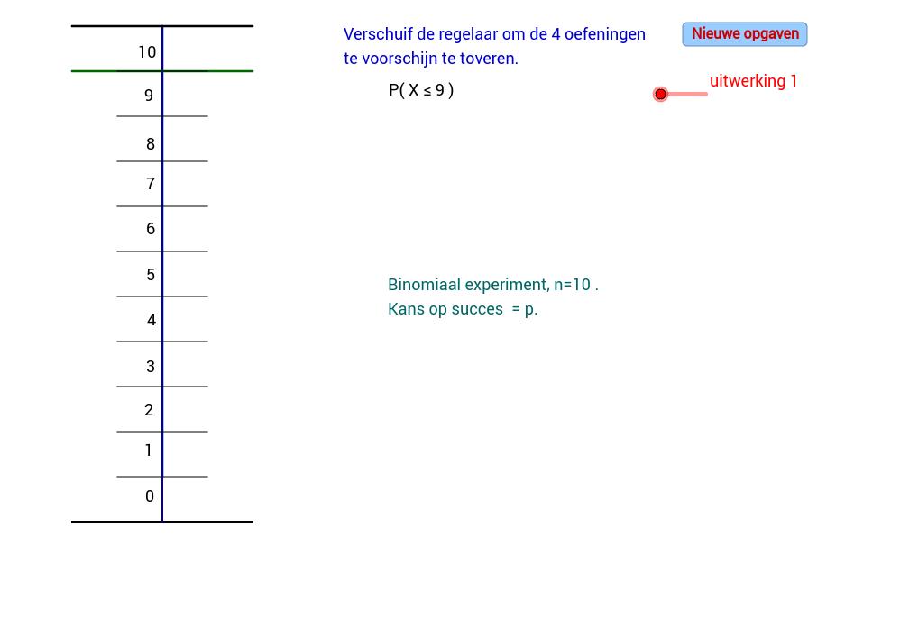 Grenzen bij binomiale verdeling bepalen