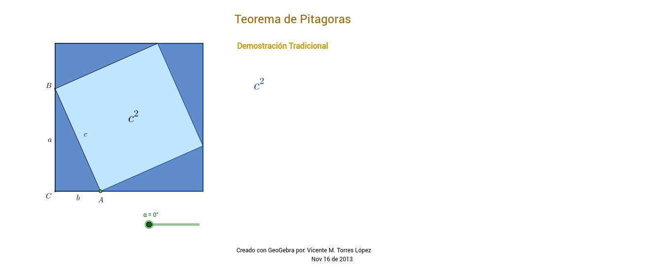Teorema de Pitágoras demostración geométrica Rufus Isaac
