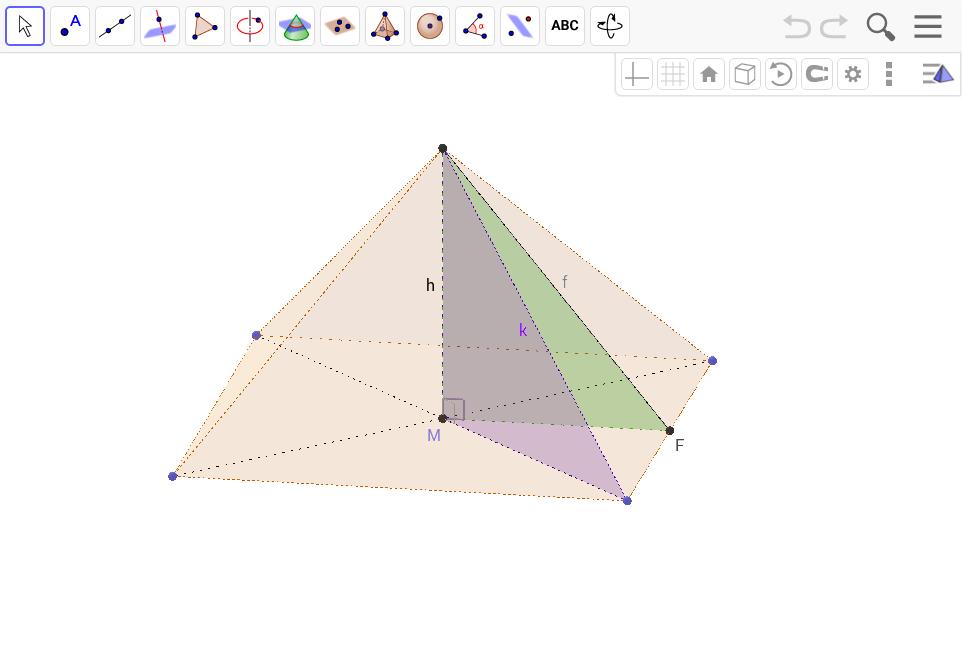 Pythagoras in Pyramiden anwenden