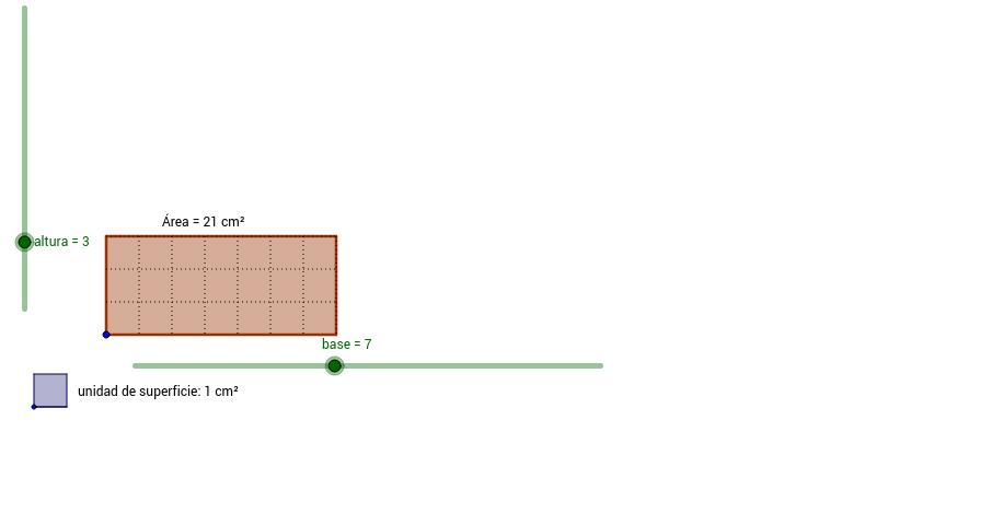 Área rectángulo (números naturales)