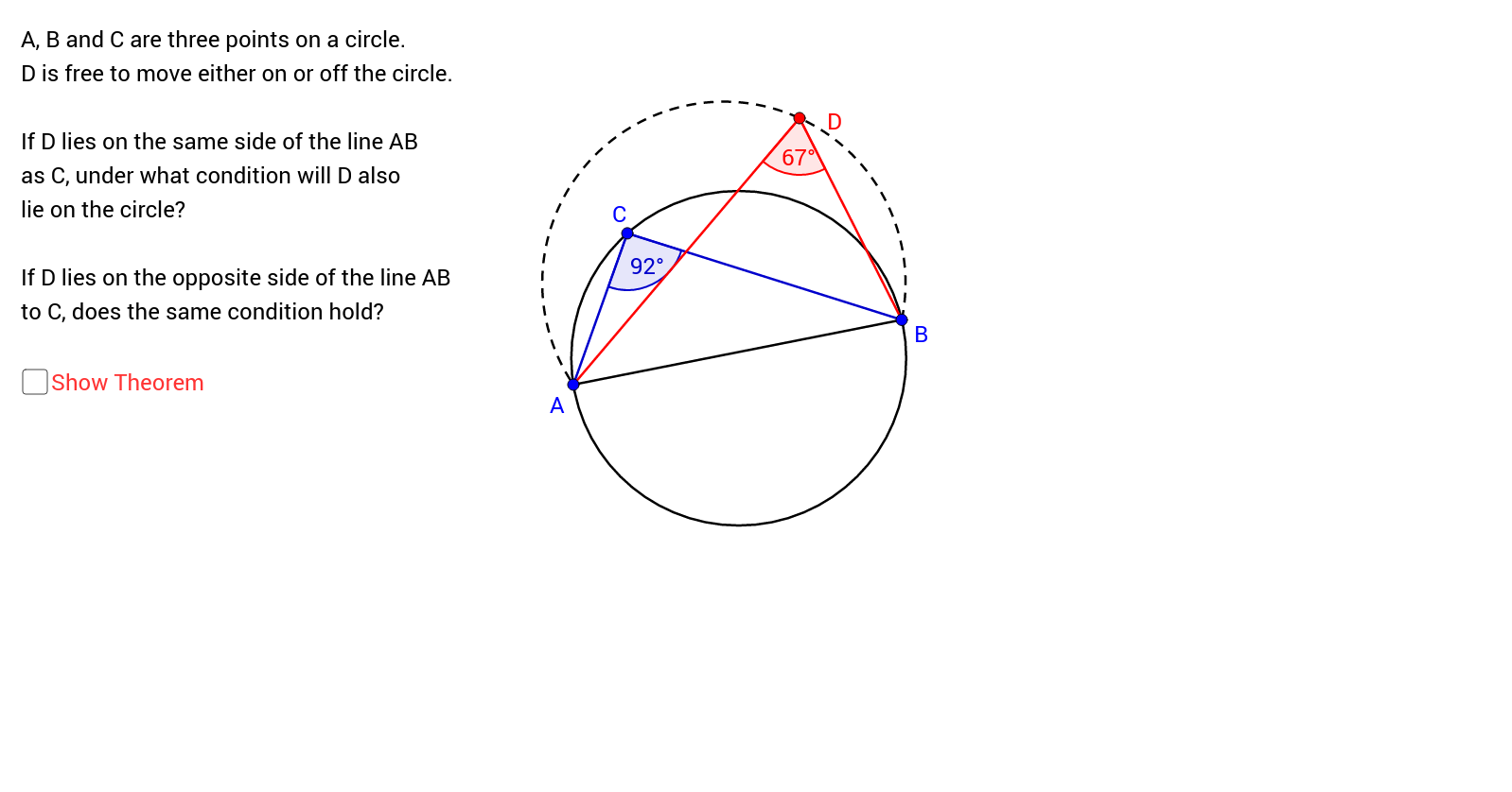 Tests for Cyclic Quadrilaterals (3)