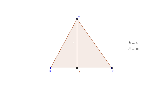 Triangle area and height