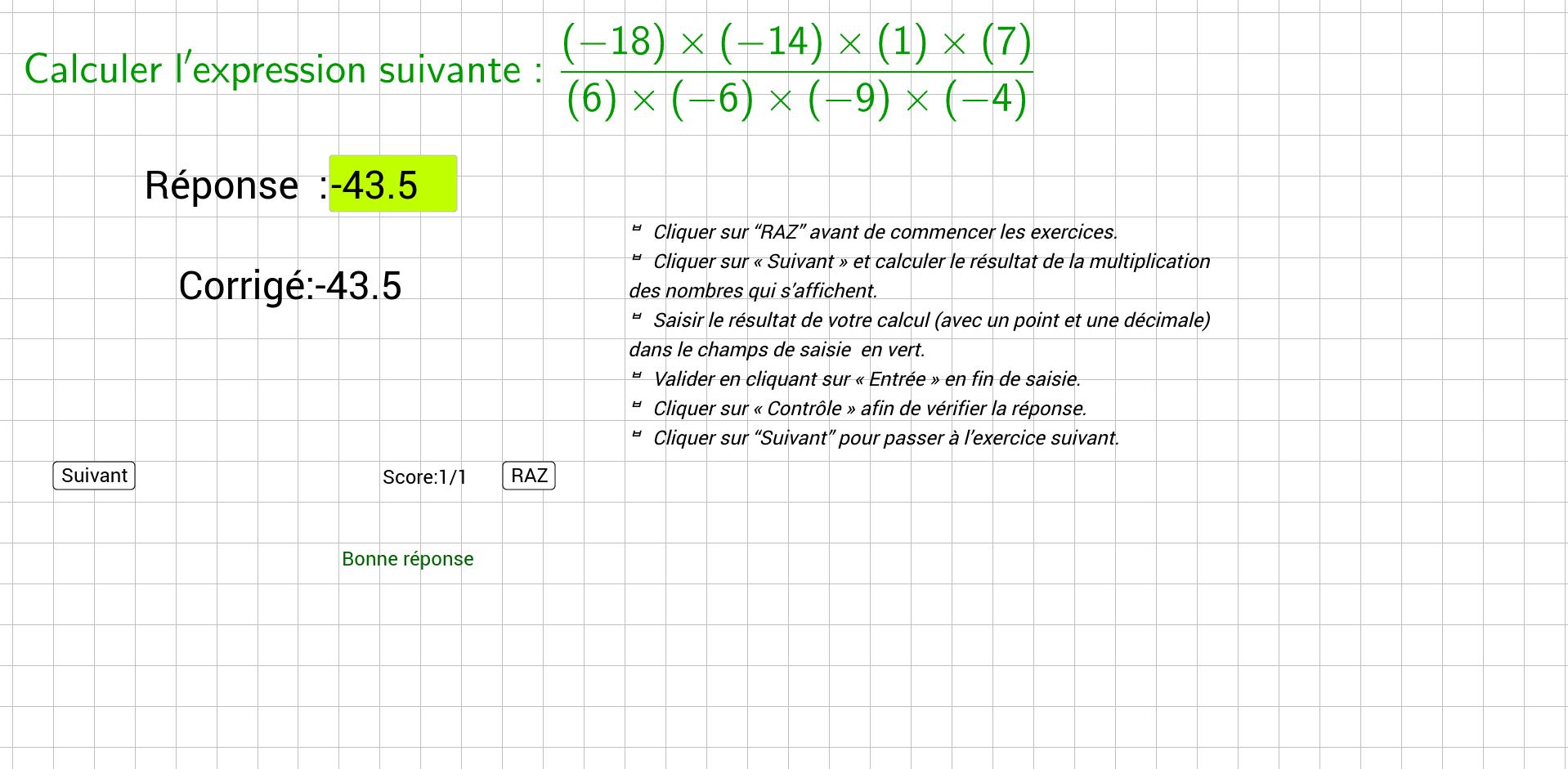 Exercices-Quotient entiers relatifs