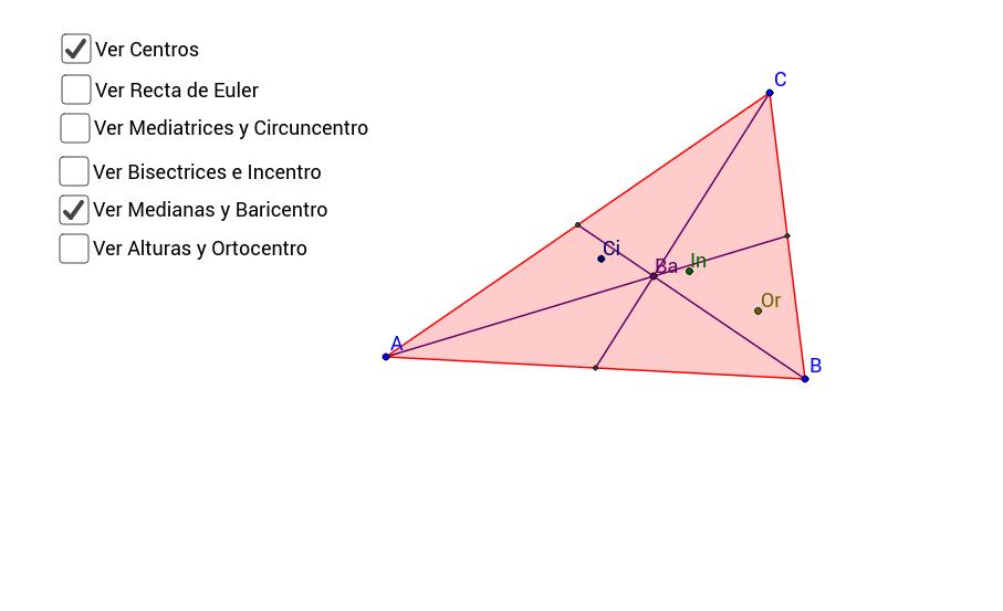 Centros de un triángulo