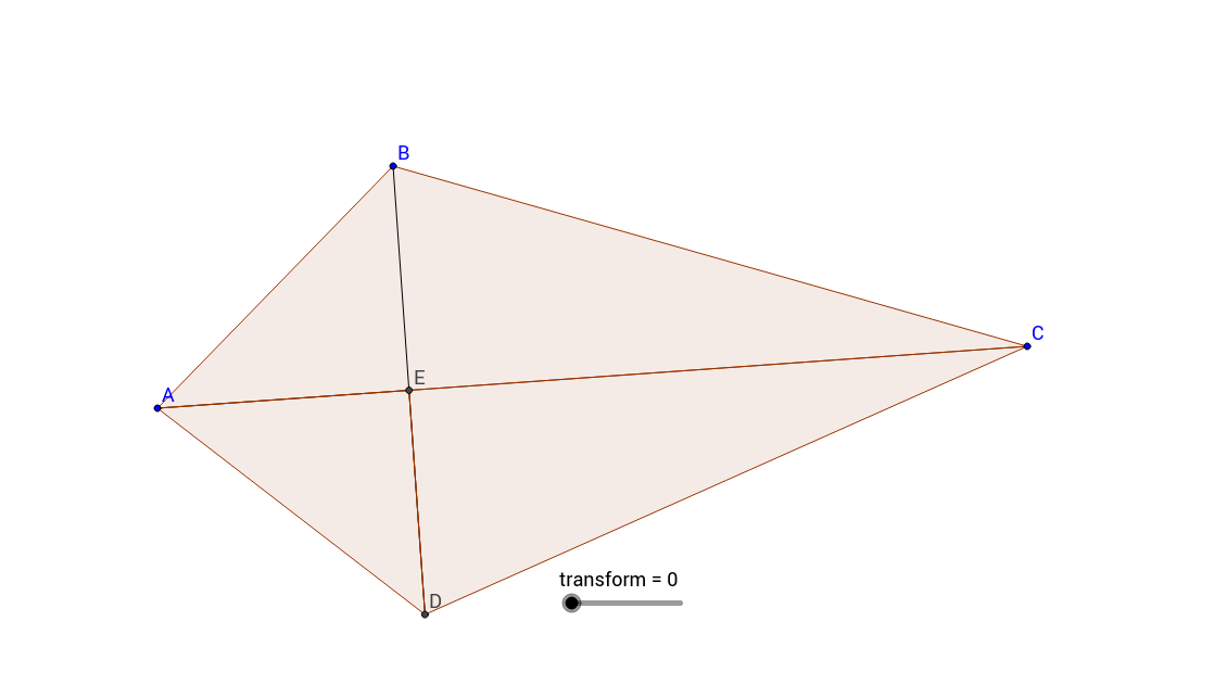Kite transformed into rectangle.
