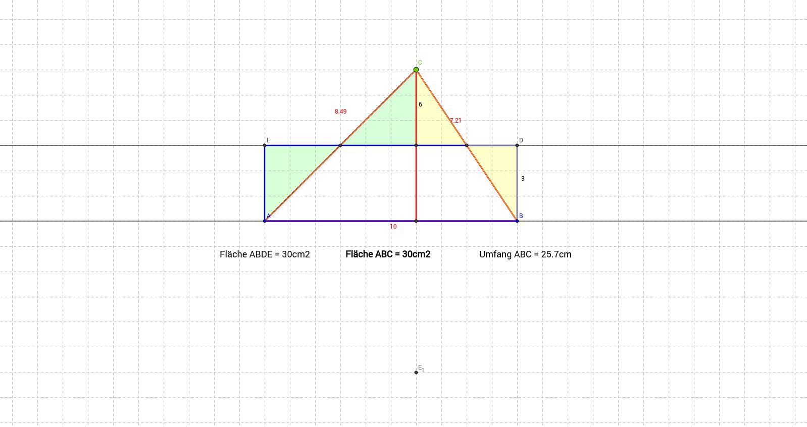 mb1 LU12 Dreieck: die Fläche